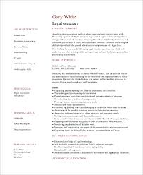 Legal Secretary Resume Samples by 100 Sample Resume For Legal Secretary Secretary Resume Sample