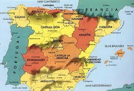 Spain Regions Map by Spain By Serchiboy95