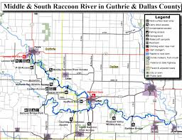 Iowa Maps Middle Raccoon River Water Trail Iowa Tourism Map Travel Guide
