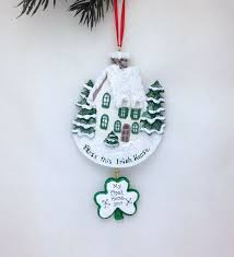 bless this irish house christmas ornament personalized christmas