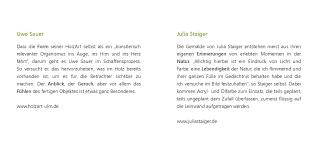 U Form K He Kaufen Julia Staiger Ausstellungen