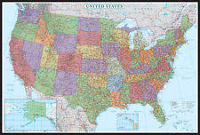 map of us states poster usa map posters prints ebay