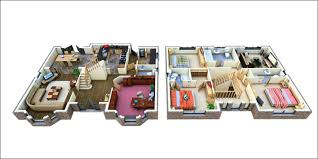 Two Storey Residential Floor Plan Remarkable 3d 2 Story Floor Plans On Apartments W Home Plans