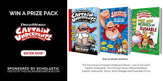 captain underpants the first epic movie book prize pack the