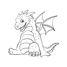 cute dragon coloring pages 5227 550 414 free coloring kids area