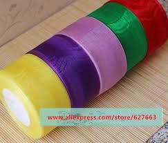 sheer organza ribbon free ship 1roll 50 yards color sheer organza ribbon 50mm wide