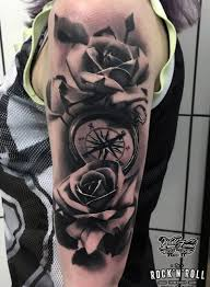 black and grey realism rock n roll and piercing