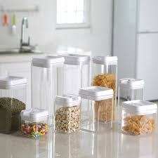 plastic kitchen canisters kitchen storage jars container for food cooking tools storage box