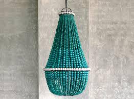 turquoise beaded chandelier bahama beaded chandelier in turquoise zohi interiors