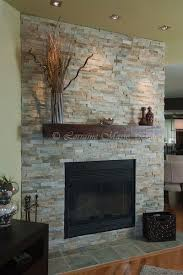 Stacked Stone Around Fireplace by 83 Best Stone Fireplaces Images On Pinterest Fireplace Ideas