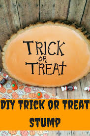 decorating home for halloween diy halloween home decor trick or treat stump craft decorating