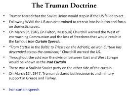 Significance Of Iron Curtain Speech H12 Ch 10 Us Aand Ussr 2013