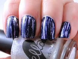 i feel polished blue u0026 silver fan brush nails
