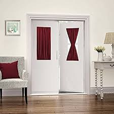 Blackout French Door Curtains Amazon Com Nicetown Window Curtain For French Door Thermal