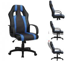 reclining gaming desk chair gaming desk chair computer racing black blue white swivel play home