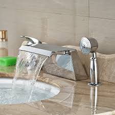 Wholesale And Retail Promotion Widespread Bathroom Tub Faucet Bathroom Fixtures Wholesale