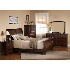 Bedroom Furniture Set Queen Georgetown Dark Bedroom Bed Dresser U0026 Mirror Queen 48064
