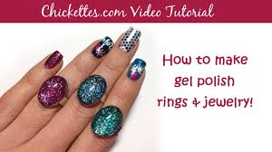 how to make gel nail polish rings u0026 jewelry youtube
