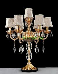 Crystal Table Lamps Bedside Table Lamp Fabric Cover Crystal Table Lamp Shades Desk
