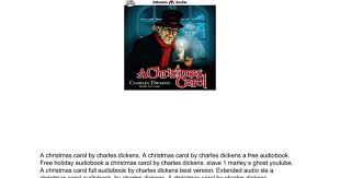 a carol by charles dickens audiobook free docs