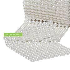 pearl ribbon pearl mesh wrap roll ribbon wedding vase decoration centerpieces