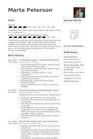 Educational Resume Samples by Psychologist Resume Samples Visualcv Resume Samples Database