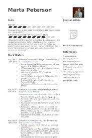 Psychology Resume Template Psychologist Resume Samples Visualcv Resume Samples Database