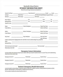 information sheet template employee emergency information form