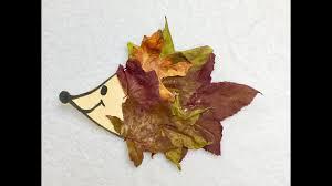 diy hedgehog fall leaf craft for kids youtube