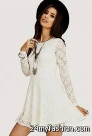 long sleeve white lace dress forever 21 2016 2017 b2b fashion