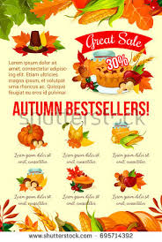 thanksgiving day sale icons autumn seasonal stock vector 722574556