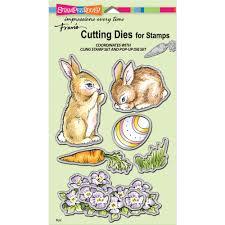 stampendous cutting die backyard bunnies die cut set