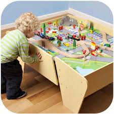 wooden train set table plum kids wooden train set and track activity table buy regarding