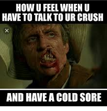 Sore Memes - how u feel when u have to talk to ur crush and have a cold sore