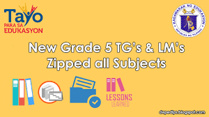new grade 5 tg u0027s u0026 lm u0027s complete for all subjects deped lp u0027s