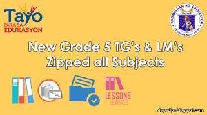 new grade 5 tg u0027s u0026 lm u0027s complete for all subjects deped lp u0027s