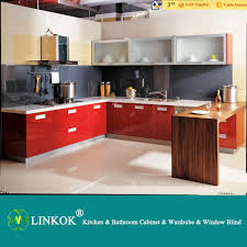 linkok furniture cheap high gloss uv finish modular kitchen