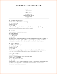 Resume And Reference Template Cover Letter Example Of Resume References Resume References Page