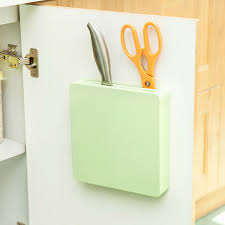 plastic knives hidden wall rack storage rack turret creative