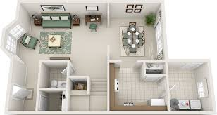 Charleston Floor Plan by Three Bedroom Floor Plans Charleston Hall Apartments