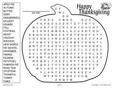 thanksgiving word search educational tools for success