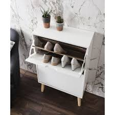 White Shoe Storage Cabinet Huf 2 Drawer Shoe Storage Cabinet In White Noa U0026 Nani