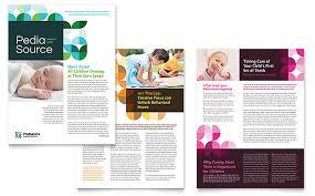 pediatric doctor newsletter template word u0026 publisher