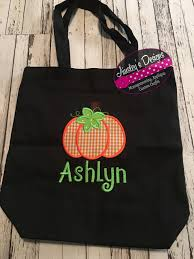 halloween tote bag trick or treat bag personalized