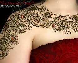 mehndi tattoos done with henna tree ink lasts from 10 days to two
