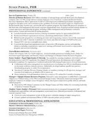 Human Resource Resume Sample by A Good Resume Example Http Www Resumecareer Info A Good Resume