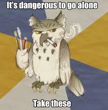 Art Student Owl Meme - kalo loves art student owl by mermaid kalo on deviantart