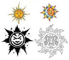 sun and moon design img31 sun moon flash tatto sets