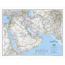 The Middle East Map by Middle East Wall Map National Geographic Store