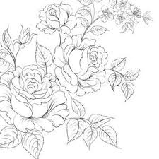 red rose in cartoon style for tattoo design vector illustration